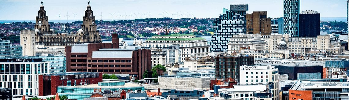 Liverpool skyline from Anglican Cathedral